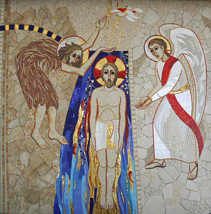 Bautismo del Señor, Mosaico de Marko I. Rupnik